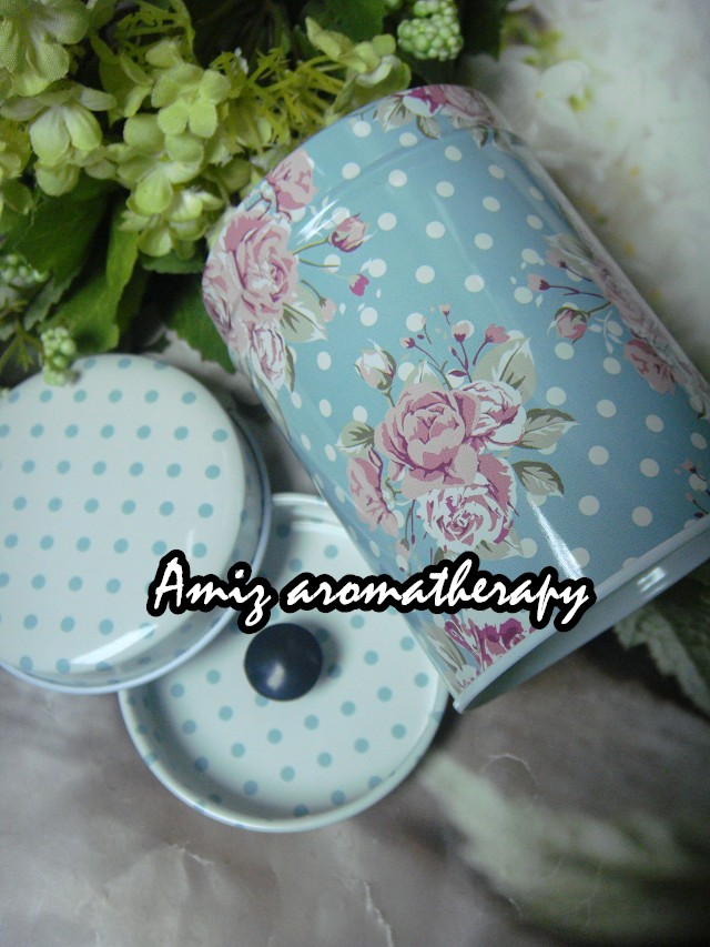 歐陸式花茶罐|fancy tea tin with rose & dot style